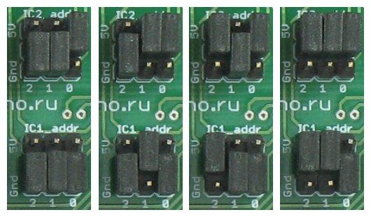 Адрес каждой микросхемы должен...  Младшие три бита адреса микросхем MCP23S17/MCP23017 выбираются...